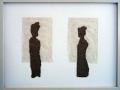 Ein Mann und eine Frau, 2009, 30x40 cm, Papier, gerissen, auf Papier