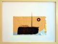o.T., 2009, 30x40 cm, Papier, Teerpappe, Metall auf Papier