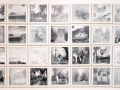 Pommerland ist abgebrannt, 2012, übermalte Fotos, 36tlg., je 20x20