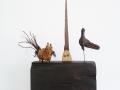Die Ballade vom Vogel, der Katze und der Säge, 2007, Höhe 55 cm
